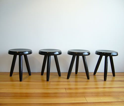 Charlotte perriand c perriand tabouret black - Tabouret charlotte perriand ...